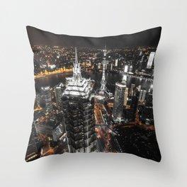 Shangaï by Night Throw Pillow