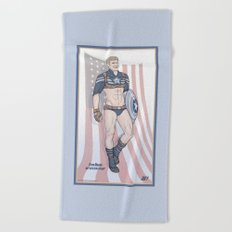 Steve Rogers Not So Stealth Suit Beach Towel