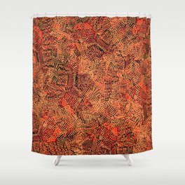 Red Living Coral Knitwear Background Pattern Shower Curtain
