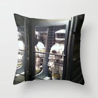 spaceman Throw Pillows featuring Spaceman by Brittany Bennett