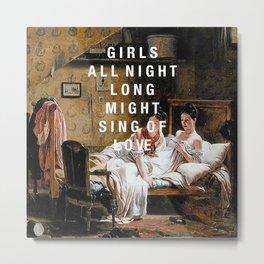 girls all night long Metal Print
