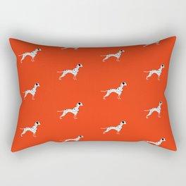 DALMATIANS ((cherry red)) Rectangular Pillow