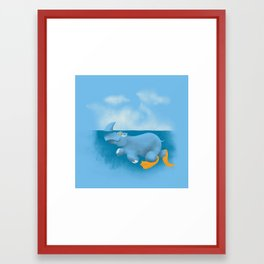 RhinosharK Framed Art Print