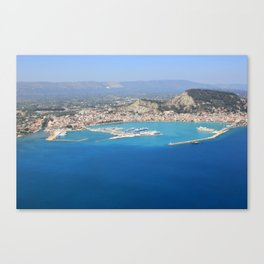 Aerial view on Zante town Canvas Print