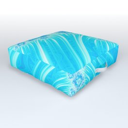 Abstract Christmas Ice Garden Outdoor Floor Cushion