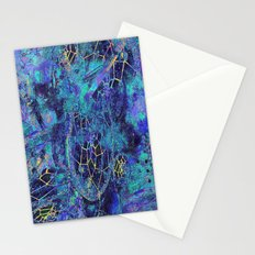 GOLDEN DREAM OF DREAMCATCHER BLUE VIOLET GOLD Stationery Cards