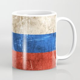 Vintage Aged and Scratched Slovenian Flag Coffee Mug
