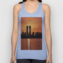 Twin Towers Summer Sky Unisex Tank Top