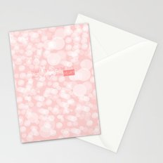 Beauty is not in the face; beauty is a light in the heart. Stationery Cards