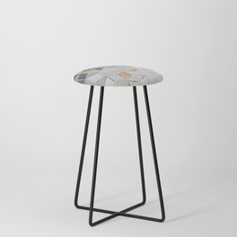 Soft Blue Gradient Cubes Counter Stool