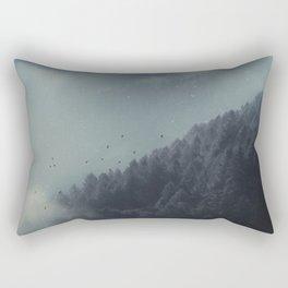 ashen forest - alpine forest in morning fog Rectangular Pillow