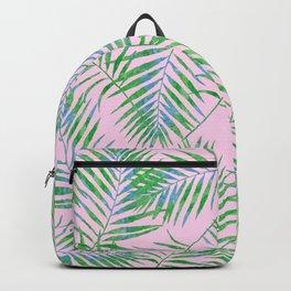Fern Leaves Pink Backpack
