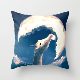 La fable de la girafe Throw Pillow