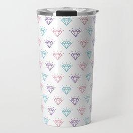 Colourful Diamond Pattern Travel Mug