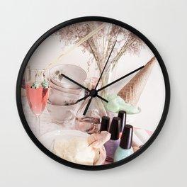 Ice Cream Tea Wall Clock