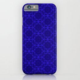 victorian paisley royal blue iPhone Case