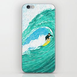 Big wave surfer iPhone Skin