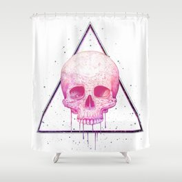 Skull in triangle Shower Curtain