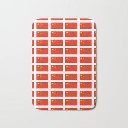 flag of china -中国,chinese,han,柑,Shanghai,Beijing,confucius,I Ching,taoism. Bath Mat