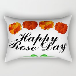 Happy Rose day february 7th- valentine month Rectangular Pillow