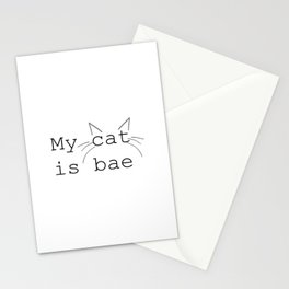 My Cat Is BAE Stationery Cards