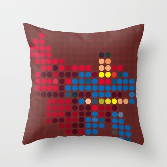 Mr Super Throw Pillow