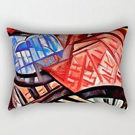 The factory and the bridge by Olga Rozanova Rectangular Pillow