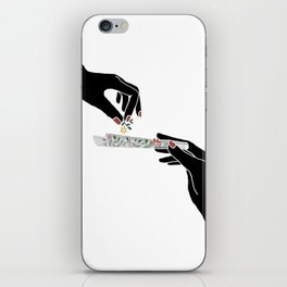 Flower roll / Illustration iPhone Skin