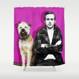 Ryan Gosling and friend Shower Curtain