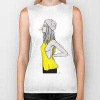 tank girl Biker Tanks featuring Tank by fossilized