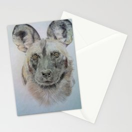 Wild African dog Stationery Cards