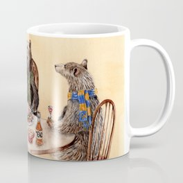 Three Bears Having Dinner Coffee Mug