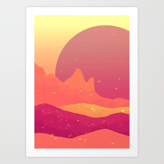 we could be mountains Art Print