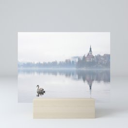 The Mists of Lake Bled Mini Art Print