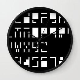 Alphanumerique Wall Clock