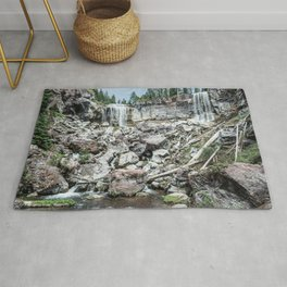 Rock Land Waterfall // Natural Beauty Wilderness Photography Decoration Rug
