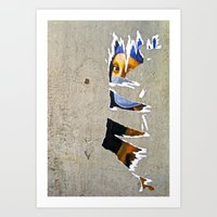 The Girl With(out)… Art Print