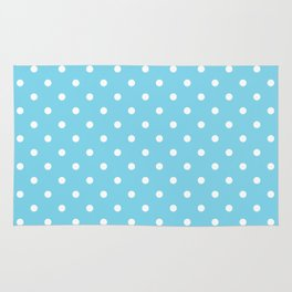 Girls just wanna have dots - teal white Rug