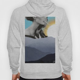 Over The Mountains - Smoking Woman Hoody