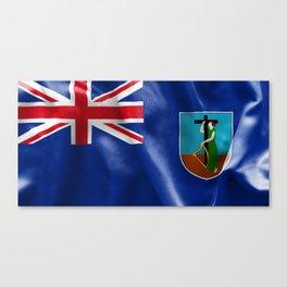 Montserrat Flag Canvas Print