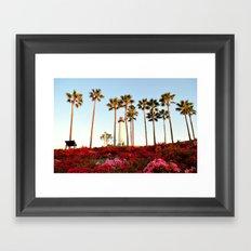 Hill Side View Framed Art Print