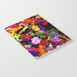 Fallen Autumn Leaves Abstract Notebook