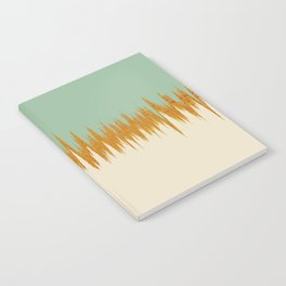 Olive and Gold Ikat Notebook