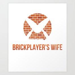 Bricklayer Gift Art Print