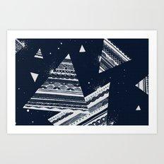 Pattern Doodle Two (Invert) Art Print