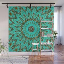 Kaleido in Oxidized Copper Wall Mural