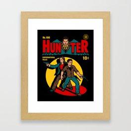 Hunter Comic Framed Art Print