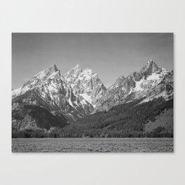 Ansel Adams - Grass Valley and Grand Tetons Canvas Print