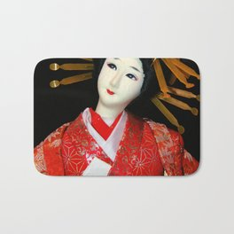 Oiran in Red Bath Mat