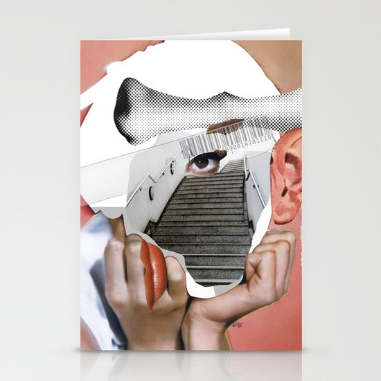 Audrey 3 Collage Stationery Cards